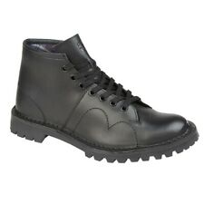 Grafters Original BLACK Leather Unisex Monkey Boots B430