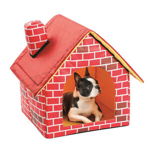 Pet Small Dog House Folding Portable Cat Bed Soft Warm Puppy Blanket 40*40*35cm