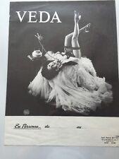 1970s Original Stripper Marquee Poster : Veda / En Personne Du Au / Nudity