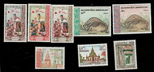 Laos red cross Chinese Pangolin Buddha Temple Stamps Red Cross Shed Animal
