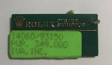 Submariner No Date 14060 93150 #1 Rolex Green Tag Hangtag Oyster Swimpruf Steel