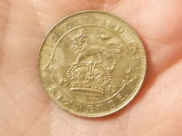1915 Sixpence 6d  George V Silver Coin L@@K HIGH GRADE LUSTRE & TONE  #H30