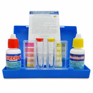 Hecht 060601 Pool Wassertester Chlor / pH Testgerät pH Teststreifen Pooltester