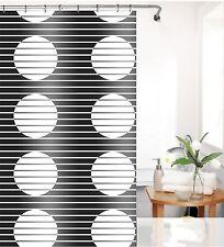 Peva tenda della doccia LOCA Bianco Nero Design 180x200 cm incl. anelli per