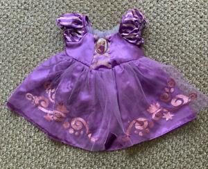NWT Build A Bear Clothes Disney Princess Rapunzel Tangled Purple Gown Dress