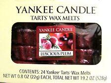 "Box Lot of 24 Yankee Candle ""LUSCIOUS PLUM"" Tarts Wax Melts"