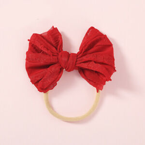 Baby Kids Bow Tie Headband Newborn Girl Elastic Headwear Children Hair Band New