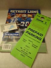 DETROIT LIONS COLLECTION,1998 YEARBOOK,RALLY RAG,TICKET,VIP PARTY&PARK PASS RARE