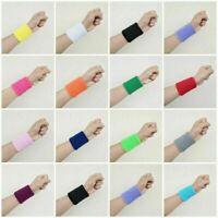 1 x Sports Basketball Unisex Cotton Sweat Band Sweatband Wristband Wrist Band Dw
