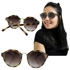 Gafas De Sol Redondas Leopardo Mujer Marrón Metal Pasta Redondo Tortuga Animal 1