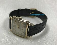 Vintage Original 50s Hamilton 747 Dewitt 10K Gold Filled Swiss Watch Wristwatch