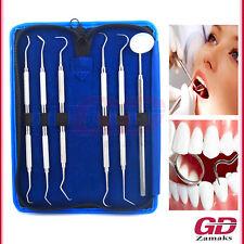 6er Dental Set Zahnreinigung Zahnsteinentferner Zahnpflege Doppelinstrument NEU