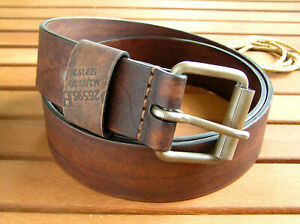 Designer Genuine Leather Belt Men Vintage Handmade Male Military Waist Belt