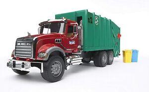 NEW Bruder Toys 02812 MACK Granite Rear Loading Garbage Truck Vehicle
