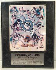 Florida MARLINS 1997 World Champions Team Photo Plaque