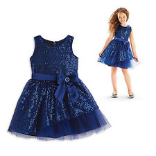 American Girl CL MY AG HAPPY HOLIDAY DRESS BLUE SIZE 7 SMALL for Girl Gown NEW