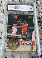 MICHAEL JORDAN Upper Deck Rookie Years Card GEM MINT 10 Bulls 6x Champion HOF $$