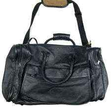 Claire Chase Leather Travel Bag Duffle Vintage Lightweight Weekender