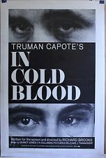 IN COLD BLOOD  1968 27 X 41 +  linen chilling Truman Capote Robert Blake