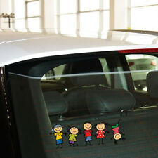 Funny Cute Family Children Kids Cartoon Girl Boy Car Sticker Window Decal
