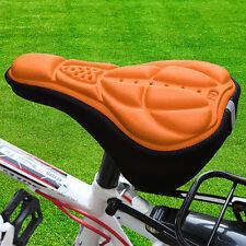 Bike Saddle Silicone Seat Saddle Bicycle Cushion Cover 3D Pad Soft Gel Orange