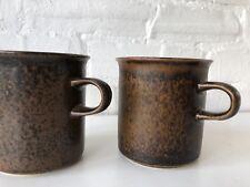 Vintage ARABIA Finland RUSKA Coffee Mugs Cups Mid Century Modern