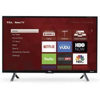 "TCL 43S405  43"" 4K Ultra HD HDR Smart LED Roku TV w/ 3 HDMI, 1 USB"