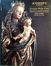 Sotheby's Catalog EUROPEAN WORKS OF ART, TAPESTRIES, FURNITURE 6/1990 NY