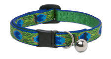 Lupine Cat Collar 12mm Wide With Bell and Safety Release Buckle - Asst Patterns Tail Feathers