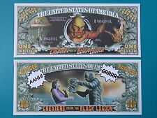 Scarry CREATURE From the BLACK LAGOON $1,000,000 One Million Dollar Bill ~ USA