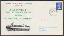 1971 HM2 Hovercraft Service between Southampton and Yarmouth 'carried on' cachet