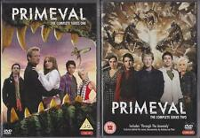 PRIMEVAL Complete Series 1 & 2 [One,Two] ITV Dinosaur Adventure 4 Disc DVD *EXC*