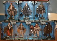 Collection Of 7 Star Wars Disney Exclusive Elite Rogue One Figures: Erso & More