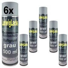 Haftgrund grau 6 x 500ml Spraydose Rostschutz Grundierung für Autolack