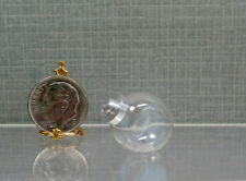 """Dollhouse Miniature 13/16"""" Long Glass Penny Candy Jar with Removable Cover"""