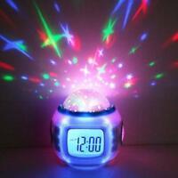 Musik Starry Snooze Wecker Kinder Schlafzimmer Kalender Nachtlicht Projektor