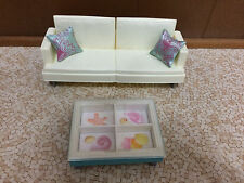 Barbie Doll Fashion Fever Sofa Couch & Table Home Living Room Furniture Playset
