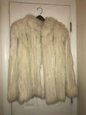 Genuine Natural Blue Fox Finland Fur Coat Jacket/Size Large Excellent Condition