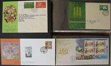 s1315) Hongkong 220 FDC ab 1963 mit Gold- und Silbermarken