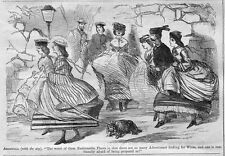 WOMENS FASHION IN 1861 HISTORY, MEN LOOKING FOR WIVES, WOMEN AFRAID OF PROPOSALS