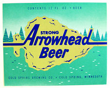 Cold Spring Brewing ARROWHEAD STRONG BEER  label MN 12oz
