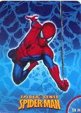 Marvel Spiderman Blanket Oversized throw raschel royal plush Twin size new