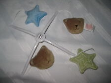 Baby Crib Mobile Hanging Top bracket & Teddy Bears Blue Green Star