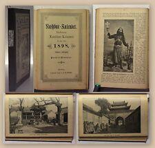 Nachbar-Kalender 1898 illustriert Kalendarium Geschichte Belletristik xy