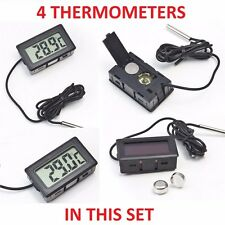 4 x DIGITAL LCD THERMOMETER TEMPERATURE FOR FRIDGE FREEZER AQUARIUM FISH TANK