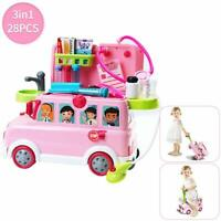 Baby Doctor Play sets Playtime Bus Educational Children Pretend Doctors Role Bus