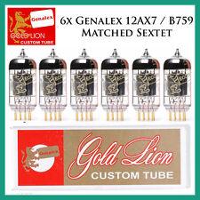 New 6x Genalex Gold Lion 12AX7 / ECC83 | Matched Sextet / Six Tubes