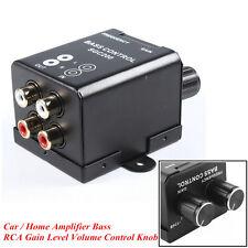 Car Truck Audio Bass Controller RAC Adjust Line Level Amplifier Volume Equalizer