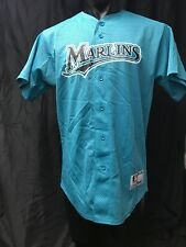 06fb9a56929 Florida Marlins MLB Majestic Size M Jersey Button Teal Mesh Mens Vintage Kg  Ws1