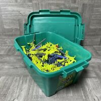 4.10lbs of Assorted K'nex Building Pieces, Toys, & Accessories With Original Bin